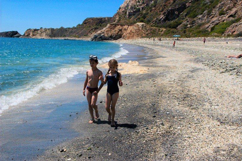 spiaggia nera isola d'Elba