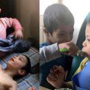Simon, bambino con la sindrome di Down si prende cura dei tre fratelli