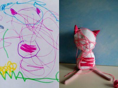 l'arte-di-wendy-tsao-trasforma-i-disegni-dei-bambini-in-teneri-peluche-da-coccolare