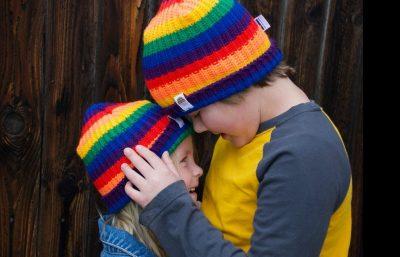 rainbow hat bambini arcobaleno