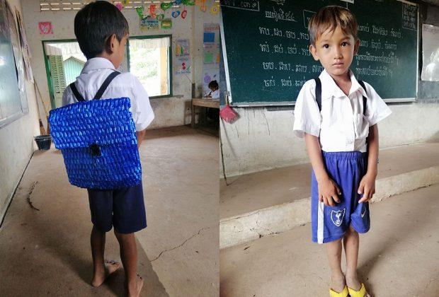cambogia-insegnante-mostra-le-immagini-dello-zaino-realizzato-da-un-papa